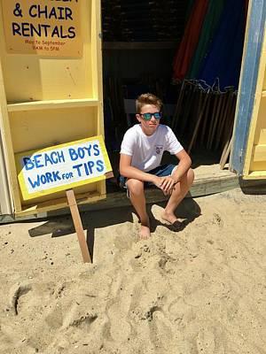 Beach Boys Work For Tips Poster