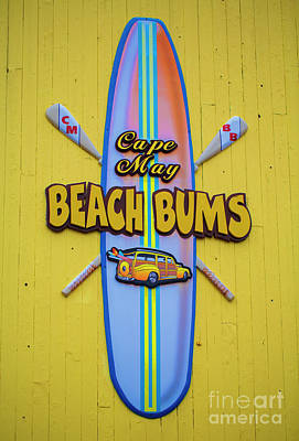 Beach Bums - Cape May Poster by Marco Crupi