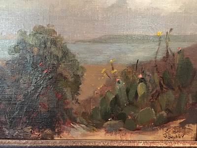 Beach Cactus Poster