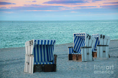 Beach Chair At Sylt, Germany Poster by Amanda Mohler