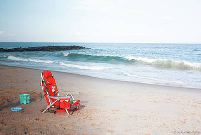 Poster featuring the photograph Beach Chair By The Sea by Ann Murphy