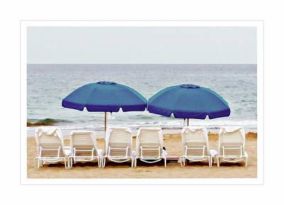 Beach Chairs Poster by Patricia Strand