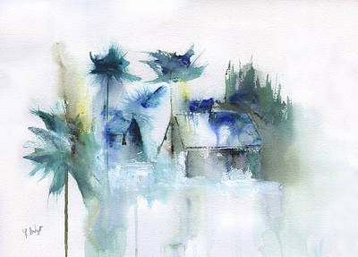 Beach Cottage Abstract Poster by Frank Bright