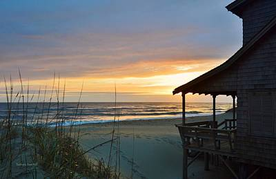 Beach Cottage Sunrise  Poster