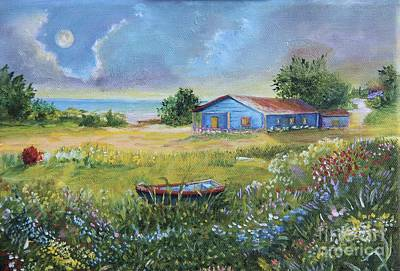 Beach Country House, 8x10in. Poster by Alicia Maury