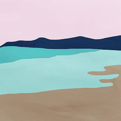 Beach Cove- Art By Linda Woods Poster
