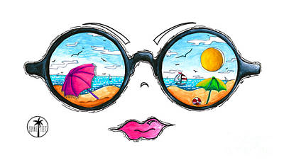 Beach Day Sunglass Design From The Sunnie Tees 2016 Collection Poster
