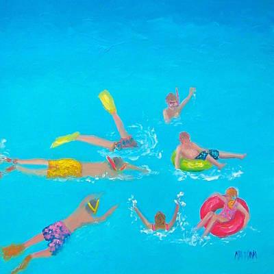 Beach Decor 'holiday Splash' By Jan Matson Poster