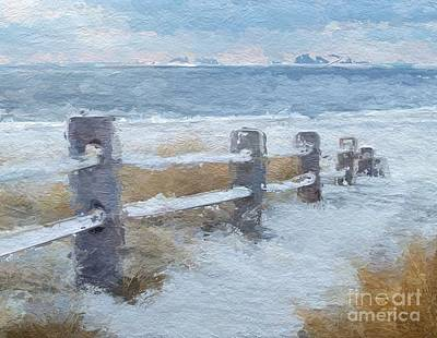 Beach Dune Fence Poster by Anthony Fishburne