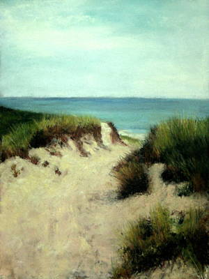 Poster featuring the painting Beach Dunes by Cindy Plutnicki