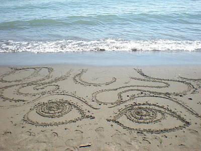 Beach Eyes Poster