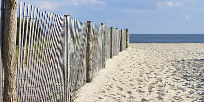 Beach Fence On The Sand Poster by ELITE IMAGE photography By Chad McDermott