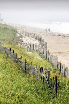 Beach Fences In A Storm Poster