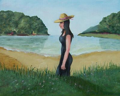 Beach Girl Poster