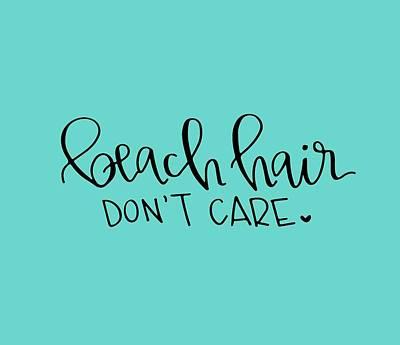 Beach Hair Poster by Elizabeth Taylor