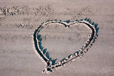 Beach Heart Poster