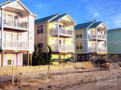 Beach Haven Colors Poster by John Rizzuto