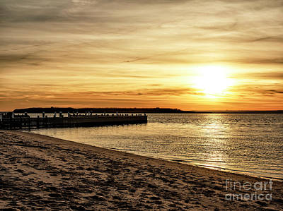Beach Haven Sunset Poster by John Rizzuto