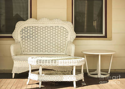 Beach House Front Porch Poster by Colleen Kammerer