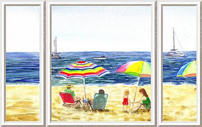 Beach House Window Poster by Irina Sztukowski