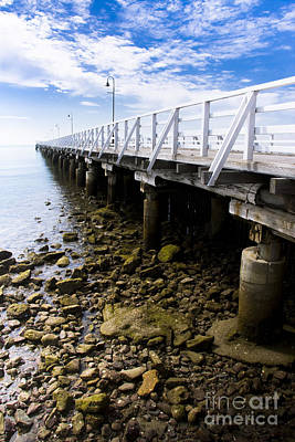 Beach Jetty Poster by Jorgo Photography - Wall Art Gallery