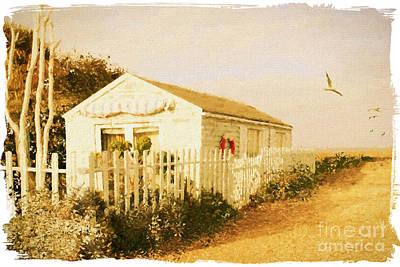 Beach Living. Bembridge Beach. Isle Of Wight. Poster by ShabbyChic fine art Photography