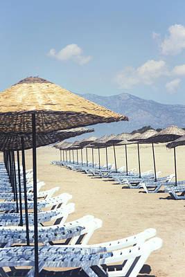 Beach Loungers Poster by Joana Kruse