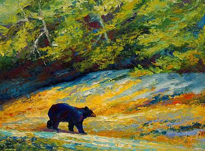 Beach Lunch - Black Bear Poster