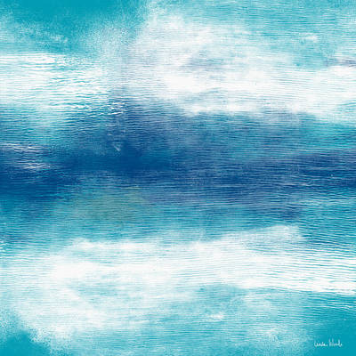 Beach Mood 2- Abstract Art By Linda Woods Poster