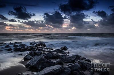 Beach Morn Poster by Richard Smukler