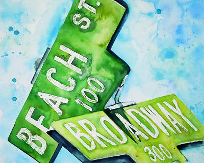 Beach N Broadwary Poster by Roleen  Senic