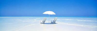 Beach, Ocean, Water, Parasol And Poster