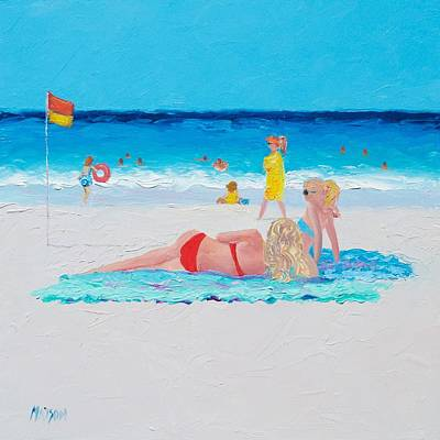 Beach Painting - A Lazy Day Poster by Jan Matson