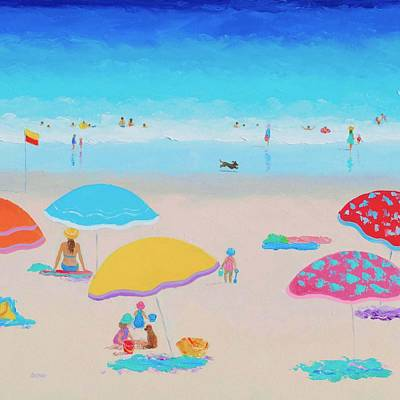 Beach Painting - Ah Summer Days Poster