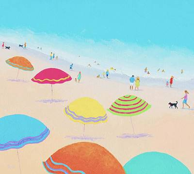 Beach Painting - Bright Sunny Day Poster