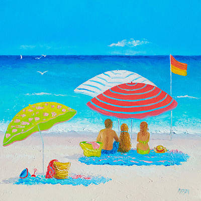 Beach Painting - Endless Summer Days Poster by Jan Matson