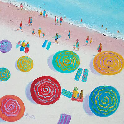 Beach Painting - First Day Of Summer Poster by Jan Matson