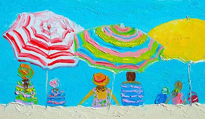 Beach Painting - Lazy Day In Summertime Poster