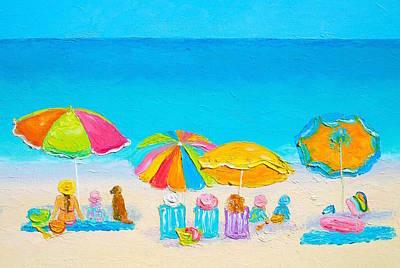 Beach Painting - Summer Love Poster by Jan Matson