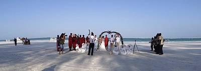 Beach Panoramic Wedding  Poster