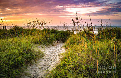 Beach Path Sunrise Poster