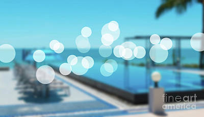 Poster featuring the photograph Beach Resort Concept by Atiketta Sangasaeng