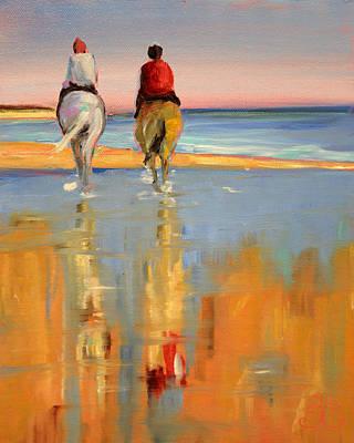 Beach Riders Poster by Trina Teele