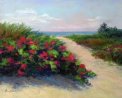 Beach Roses Poster
