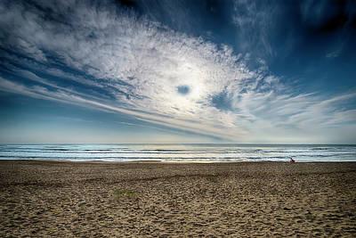 Beach Sand With Clouds - Spiagggia Di Sabbia Con Nuvole Poster
