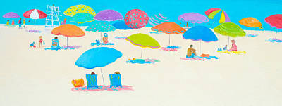 Beach Scene - Happy Times And Sunshine Poster