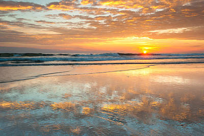 Beach Sunrise - Cape Hatteras National Seashore North Carolina Poster by Mark VanDyke