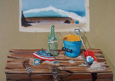 Poster featuring the painting Beach Toys by Susan Roberts
