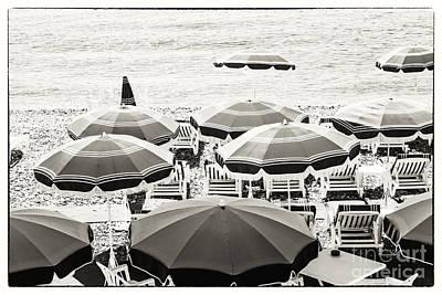 Beach Umbrellas In Nice Poster