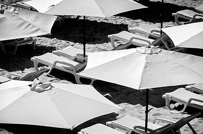 Poster featuring the photograph Beach Umbrellas by Marion McCristall
